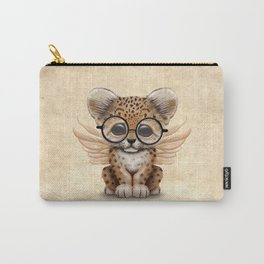 Cute Leopard Cub Fairy Wearing Glasses Carry-All Pouch