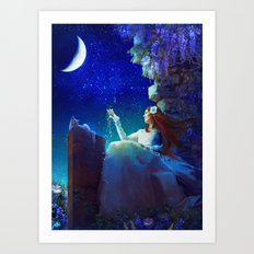 Conversation With The Moon Art Print