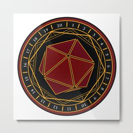 Twenty Sides of Fate Metal Print