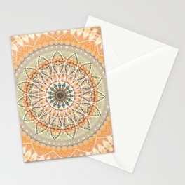 Pale Orange Mandala Stationery Cards