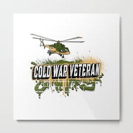 Cold War Veteran Helicopter Design Metal Print