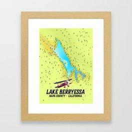 Lake Berryessa, Napa County, California travel poster Framed Art Print
