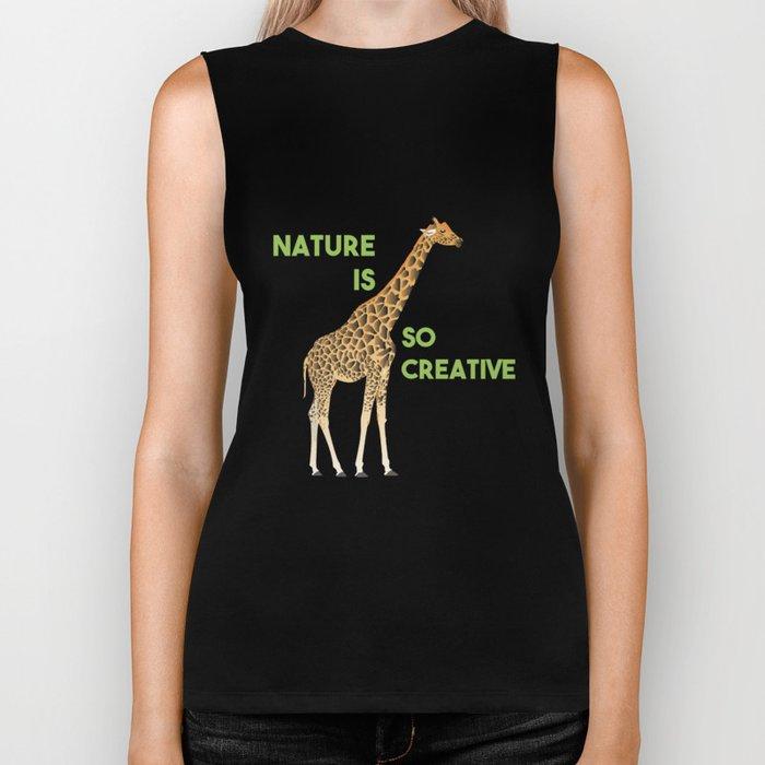 Nature is So Creative Biker Tank