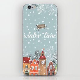 winter time iPhone Skin