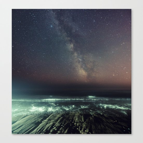 Galactic Beach Canvas Print