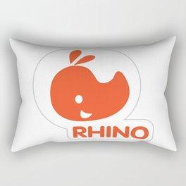 emblem of a red rhinoceros Rectangular Pillow