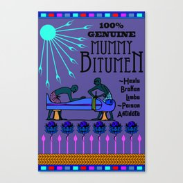 Mummy Bitumen Canvas Print