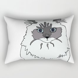 Theodore the Himalayan cat Rectangular Pillow