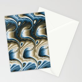 Wacky Waves 1 blue Stationery Cards