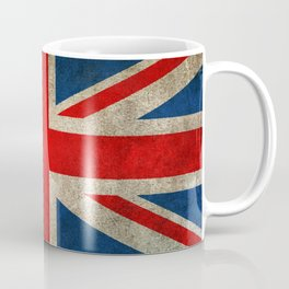 Old and Worn Distressed Vintage Union Jack Flag Coffee Mug
