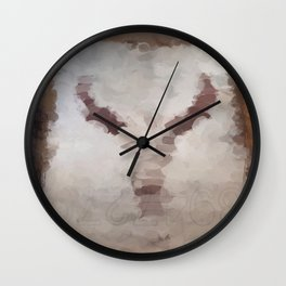 Car Part Cow Skull Wall Clock