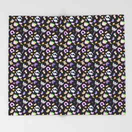 Star vs the Forces of Evil Pattern ( black ) Throw Blanket