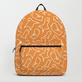 Orange ghost pattern Backpack