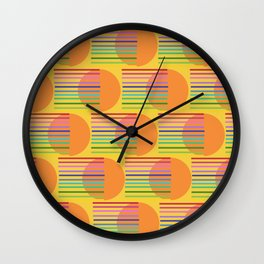 Tangerine Rainbow Sunshine Wall Clock