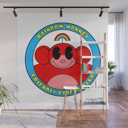 Rainbow Monkey Friendly Friend Club! Wall Mural