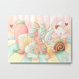 Strawberry Dollop MLP Metal Print