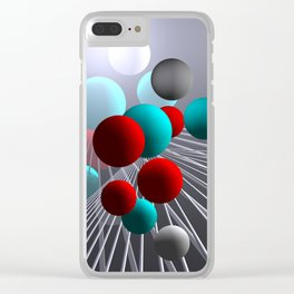 crazy lines and balls -10- Clear iPhone Case