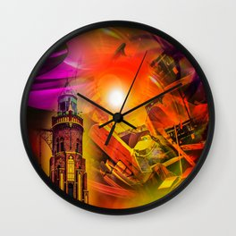 Lighthouse romance Wall Clock