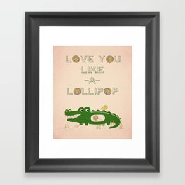 Like A Lollipop Framed Art Print