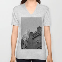 Grey skies Unisex V-Neck