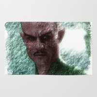 green lantern Area & Throw Rugs featuring Green Lantern : Thall Sinestro by André Joseph Martin