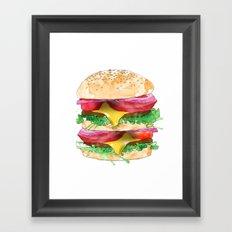 California Burger Framed Art Print