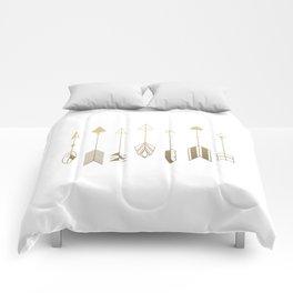 Be Brave Little Arrow (gold) Comforters