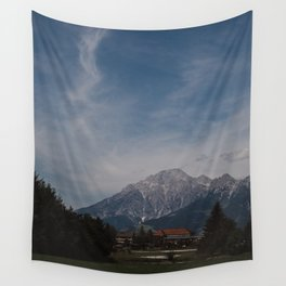 View of Austrian Alps Wall Tapestry