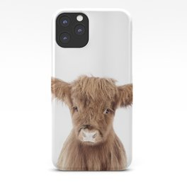 Baby Highland Cow Portrait iPhone Case