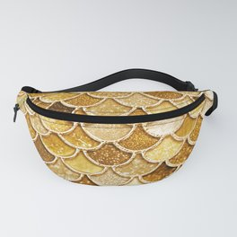 Gold Trendy Glitter Mermaid Scales Fanny Pack