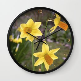 Garden Still Life.. Wall Clock