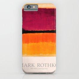 Mark Rothko Exhibition poster 1979 iPhone Case