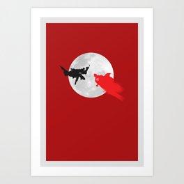 BAT VS SUP Art Print