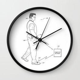 Retro 1980's Gadget Man Apple Watch Wall Clock