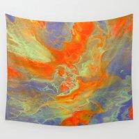 heaven Wall Tapestries featuring Heaven by Liz Moran