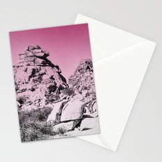 Pink Fog Covered Mountains Stationery Cards