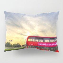 London Bus Sunset Pillow Sham