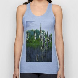 Scraggly Cat-Tails at Sunset Unisex Tank Top