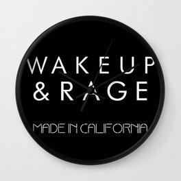 WAKE UP AND RAGE Wall Clock