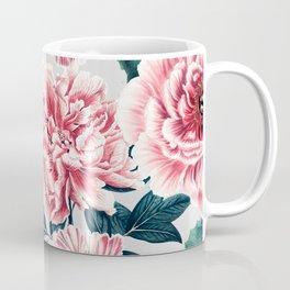 Pattern pink vintage peonies Coffee Mug