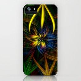 Colour twirls iPhone Case