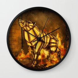 The Golden Boar Wall Clock