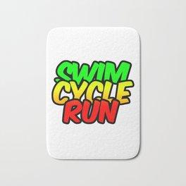 Swim Cycle Run Bath Mat