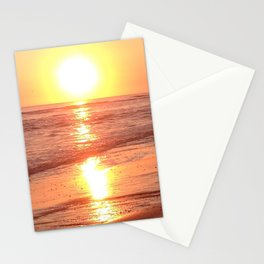 Sunset beach Stationery Cards