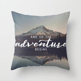 Trillium Adventure Begins - Nature Photography Throw Pillow