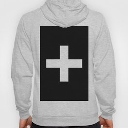 Plus Sign (White & Black) Hoody