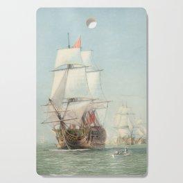 Vintage Ship Art Cutting Board