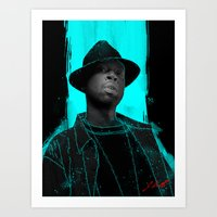 j dilla Art Prints featuring J Dilla poster by Escobarr
