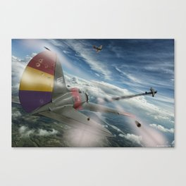 Dogfight Canvas Print
