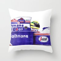senna Throw Pillows featuring Senna by One Curious Chip